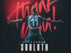 Sorloth, con todo hecho para fichar por el RB Leipzig. Twitter/Trabzonspor