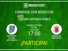 Consigue una entrada doble para el BeSoccer CD UMA Antequera-Móstoles. BeSoccer