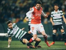Sporting venceu o Braga em Alvalade e aproxima-se do terceiro lugar. Twitter@SCBragaOficial
