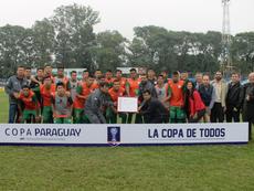 Sportivo Puerto Diana cumplió su sueño al debutar en la Copa Paraguay. Twitter/clubpuertodiana