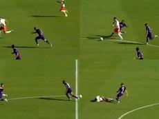 Ribéry paró una contra muy peligrosa de Cristiano. Capturas/SkySport