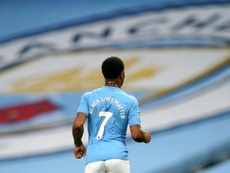 Sterling, o autor do primeiro gol da eliminação do Real Madrid. AFP/Arquivo