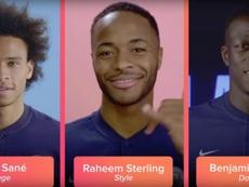 Sterling, Sané y Mendy participaron en la campaña de Tinder y el City. YouTube/Tinder