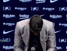 Les émouvants adieux de Suarez. Capture/BarçaTV