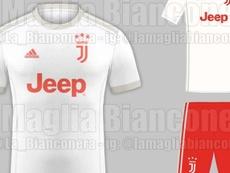 La segunda equipación de la Juve sería blanca. Twitter/La_Bianconera