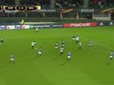 Suso marcó un auténtico golazo en el Austria de Viena-Milan. Twitter/Sky