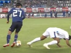 Kubo brilló en su debut con Japón. Captura