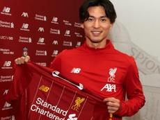 Minamino se incorporará al Liverpool el 1 de enero. LiverpoolFC