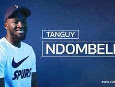 Ndombele joins Tottenham in club-record deal. Twitter/SpursOfficial