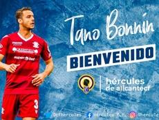 Tano Bonnín, noveno fichaje del Hércules. Twitter/cfhercules