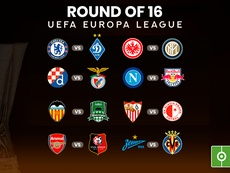 Draw for the 2018-19 Europa League round of 16. BESOCCER
