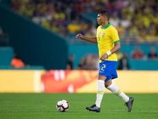 Thiago Silva em ação pela Seleção Brasileira. Twitter @tsilva3