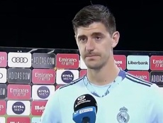 La parodia con Courtois. Captura/MovistarLaLiga