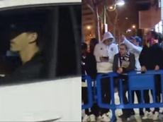 Les supporters n'étaient pas contents de Courtois. Capture/ASTV