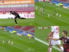 Müller hizo los honores desde el punto de penalti. Captura/Vamos
