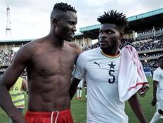 Thomas fue nuevamente reconocido por Ghana. AFP