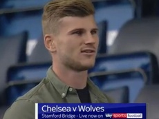A primeira vez de Werner em Stamford Bridge. Captura/SkySportsFootball