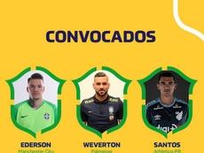 Tite convoca a Seleção Brasileira para os amistosos contra Senegal e Nigéria. Twitter @CBF_Futebol