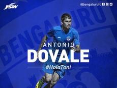 Toni Dovale ficha por el Bengaluru indio. BengaluruFC