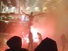 Torcedores suecos queimam estátua de Ibrahimovic. Instagram/blatteultras04