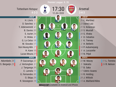 Tottenham v Arsenal, Premier League 2019/20, matchday 35, 12/7/2020 - Official line-ups. BESOCCER