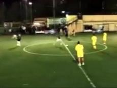 Il gran goal di Francesco Totti da centrocampo. Instagram