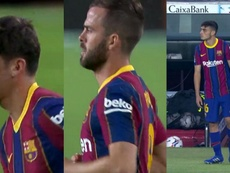 Trincao, Pjanic, and Pedri made their debuts. Screenshots/MovistarLaLiga