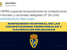Asturias toma la decisión por las restricciones territoriales. Twitter/asturfutbol