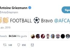 Elogios entre el Ajax y Griezmann. AntoineGriezmann