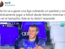 Ibai Llanos 'elogió' a Bale. Captura/Twitter/IbaiLlanos