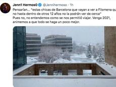 Jenni Hermoso se quejó en Twitter. Captura/Twitter/Jennihermoso