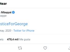 Mbappé también pidió justicia. Twitter/KMbappe