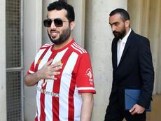 Al-Sheikh estuvo reunido con Tebas con su equipo luchando por el liderato. EFE
