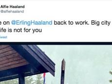 Vídeo de Haaland sendo expulso de casa noturna viraliza. Twitter/alfiehaaland