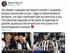 Pjanic has said goodbye to Juventus. Twitter/Miralem_Pjanic