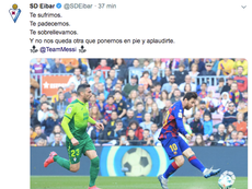 Messi met Eibar à ses pieds. Twitter/SDEibar