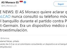 Así defendió el Mónaco la profesionalidad de Falcao. Captura/AS
