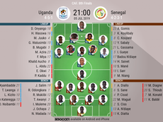 Uganda v Senegal, Africa Cup of Nations Round of 16, 05/07/19, Official Lineups, BeSoccer