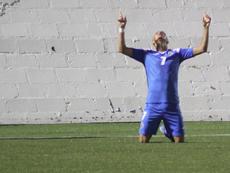 Ulises cerró el marcador en el Nicaragua 3-1 Dominica. Twitter/Fenifutnica