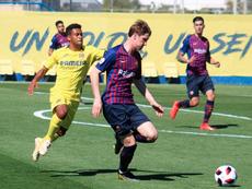 Simón hunde al Barça B. FCBarcelonaB