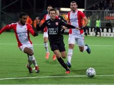 El Emmen adelantó en la tabla al Twente. Twitter/FCTwente
