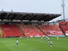Some Aberdeen fans got to watch the game. Twitter/robwicks