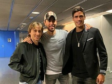 They went to an Enrique Iglesias concert. Screenshot/RaphaelVarane