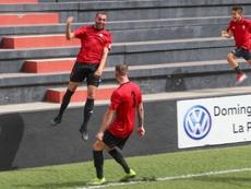 Vianney (i) lleva ya cuatro goles en tres jornadas. Twitter/CDMensajero
