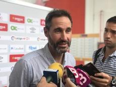 Vicente Moreno no tira la Copa. RCDMallorca