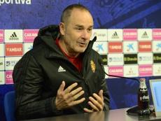 Víctor Fernández lamentó la falta de gol. RealZaragoza
