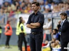 Víctor Sánchez sigue confiando en el equipo. MálagaCF