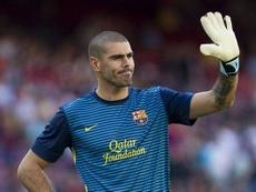 Víctor Valdés volverá al Barça para entrenar al Juvenil A. EFE