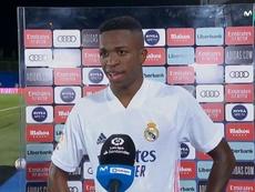 Vinicius s'exprime à la fin du match. Captura/MovistarLaLiga