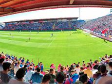 Un aficionado sufrió un infarto durante el Extremadura-Córdoba. Captura/Twitter/EXT_UD